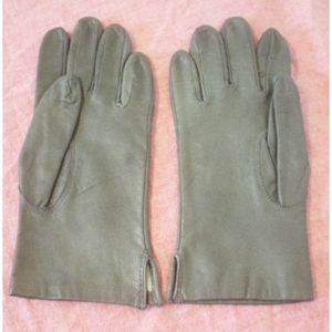 Vintage Fownes Gray Leather Gloves Sz 6.5 Soft EC